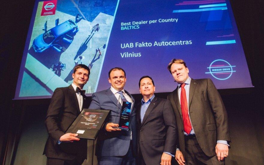 """Geriausios """"Nissan"""" atstovybės Baltijos šalyse titulas atiteko """"Fakto"""" autocentrui"""