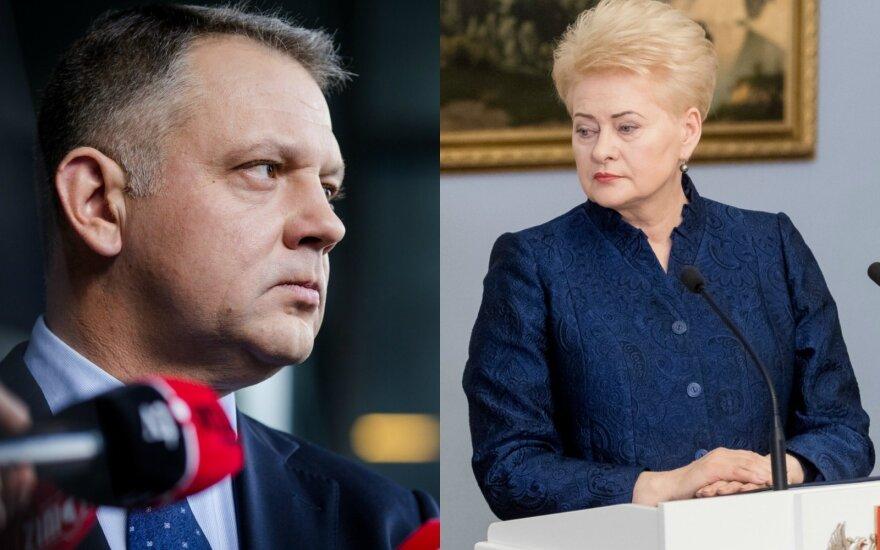 """Prezidentūra: Grybauskaitė nebuvo informuojama apie Masiulio ryšius su """"MG Baltic"""""""