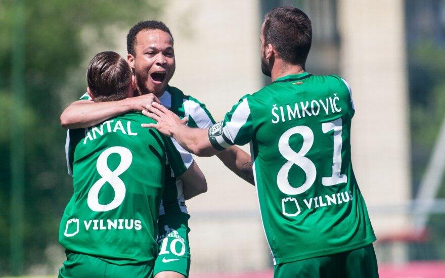 """A lygos rungtynės: """"Trakai"""" - Vilniaus """"Žalgiris"""" / Foto: Elvis Žaldaris"""