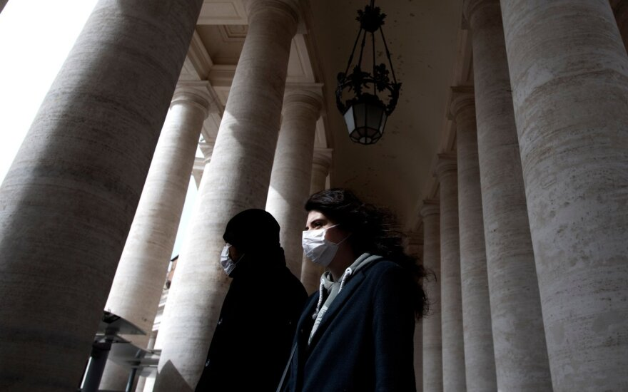 Kritiška padėtis Italijoje - dėl koronaviruso karantinuota ketvirtis gyventojų