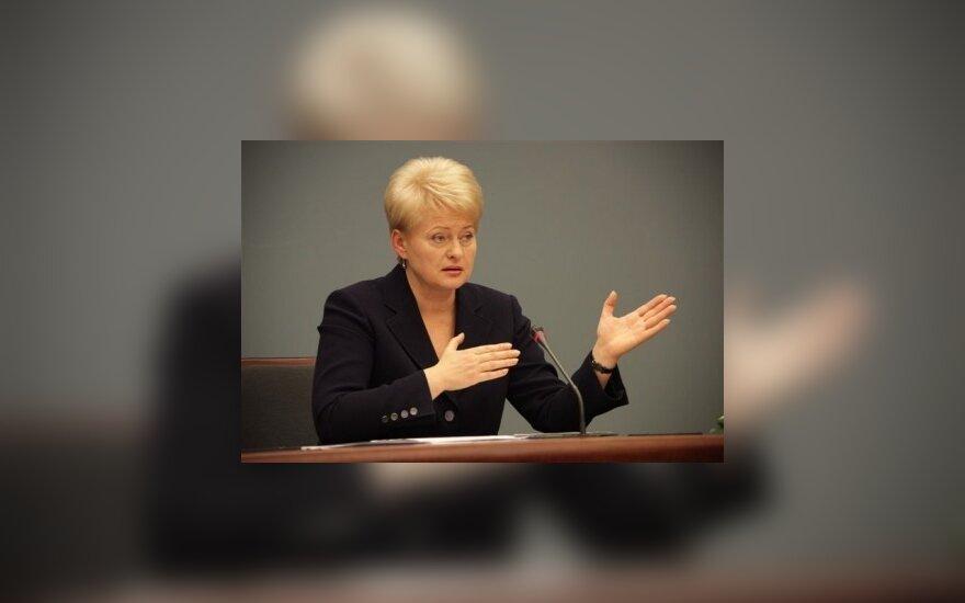 D.Grybauskaitė: jei diplomatas nori politikuoti, tegul eina kitur