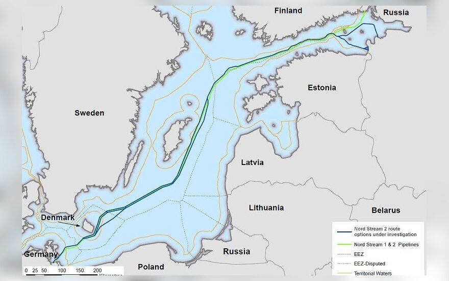 Potential Nord Stream 2 route