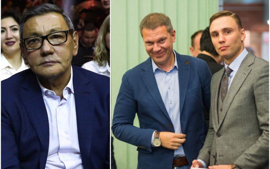 Gafuras Rachimovas (kairėje), Darius Šaluga, Donatas Mačianskas (dešinėje) / Foto: Alfredas Pliadis
