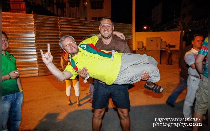 Lietuvos rinktinės fanai Karakase