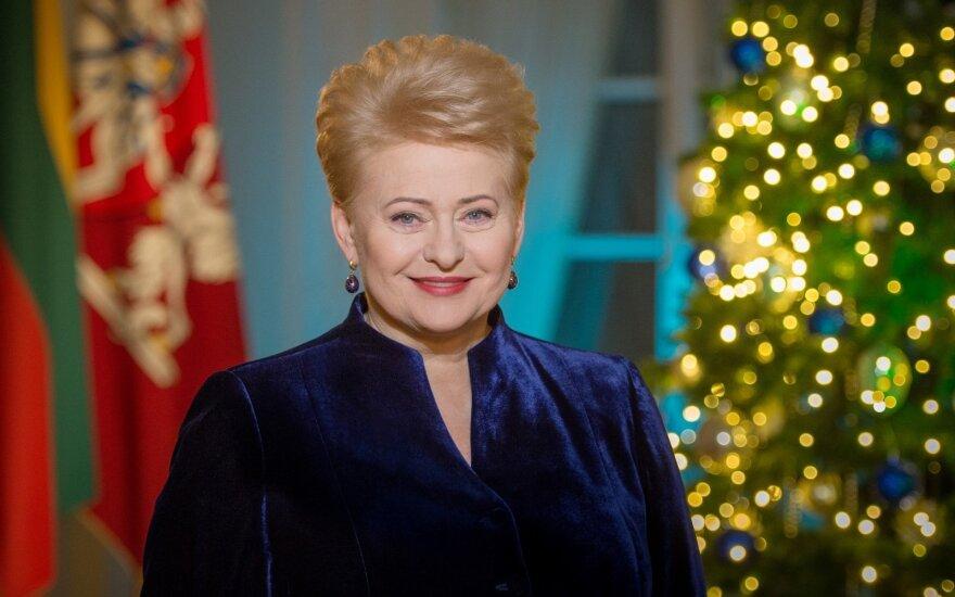 D. Grybauskaitė: į Naujuosius žengiame su didelėmis viltimis