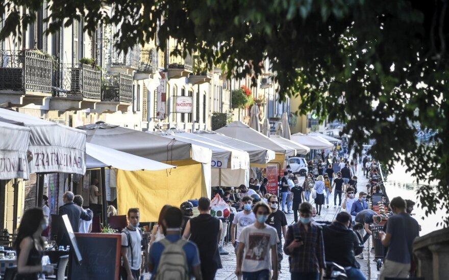 Italijoje toliau mažėja naujų mirčių nuo Covid-19