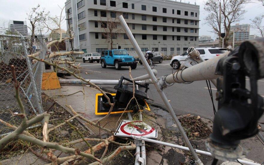 Puerto Riką supurtė dar vienas stiprus seisminis smūgis