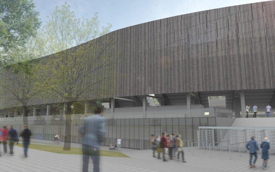 Kauno stadiono išorėje po rekonstrukcijos dominuos medis