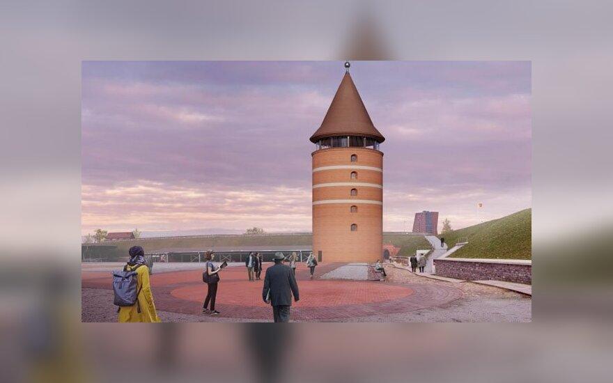 Pilies bokšto statybas Klaipėdoje planuojama pradėto po dvejų metų