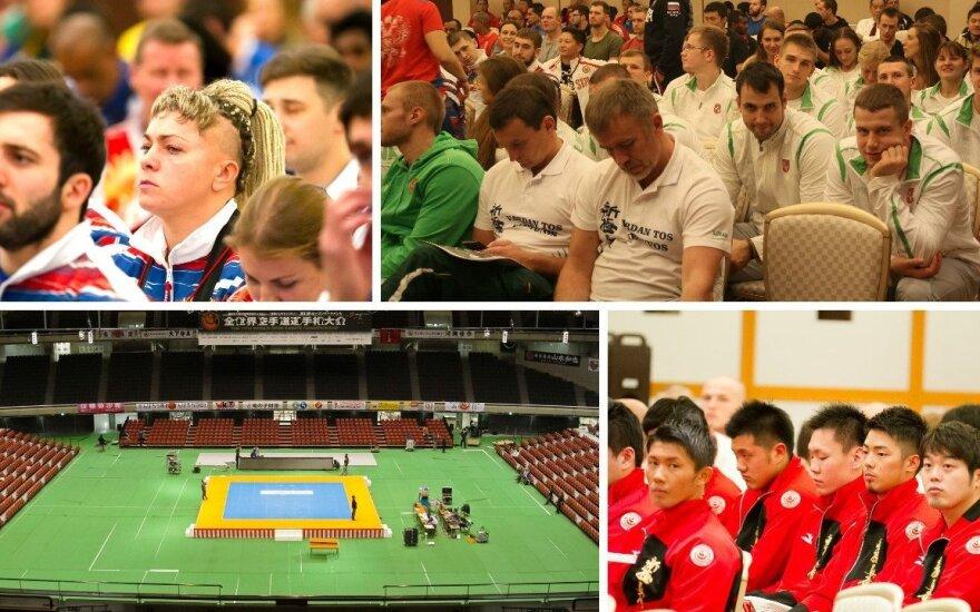 Tokijuje - paskutiniai pasiruošimai prieš pasaulio kiokušin karatė čempionatą