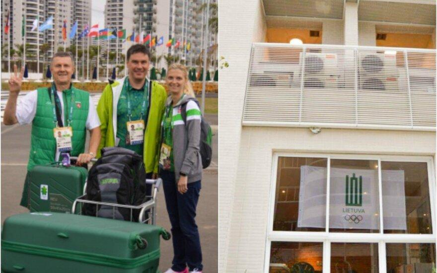 Pirmieji į olimpinį kaimelį praėjusią savaitę atsikraustė Lietuvos misijos atstovai: (iš kairės) Kazys Steponavičius, Einius Petkus ir Lina Vaisetaitė