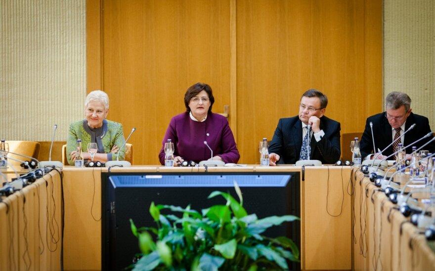 Irena Degutienė, Loreta Graužinienė, Vydas Gedvilas ir Jaroslavas Narkevičius