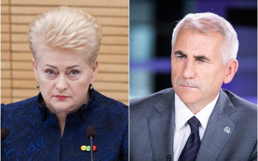 Dalia Grybauskaitė ir Vygaudas Ušackas