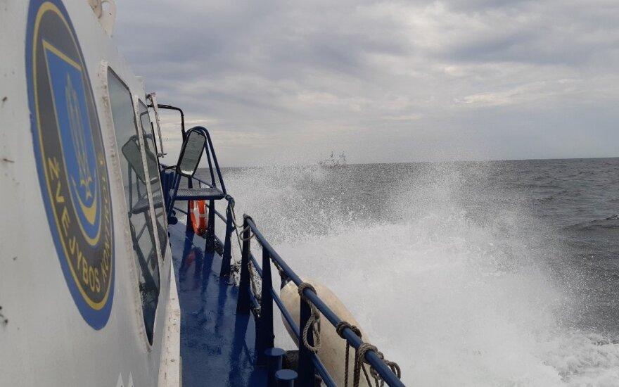Akimirka iš patikrinimų Baltijos jūroje