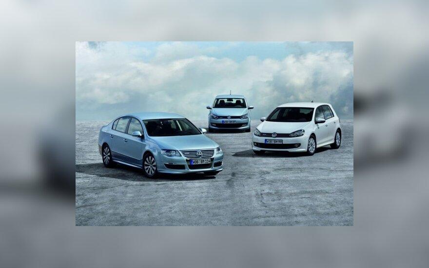 Volkswagen BlueMotion Polo, Passat, Golf