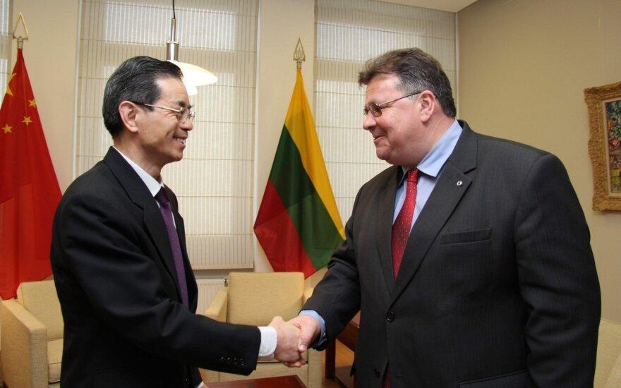 Linas Linkevičius ir Kinijos ambasadorius Vei Ruisingas, Wei Ruixingas