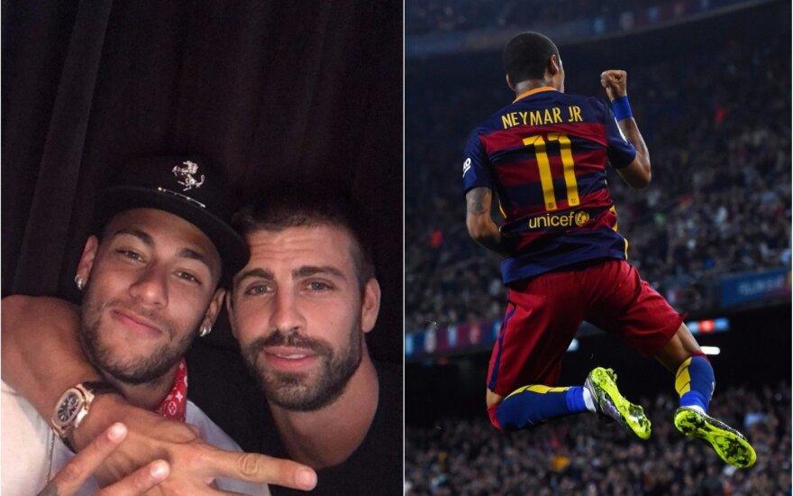 Neymaras ir Pique (AFP Scanpix, Instagram)