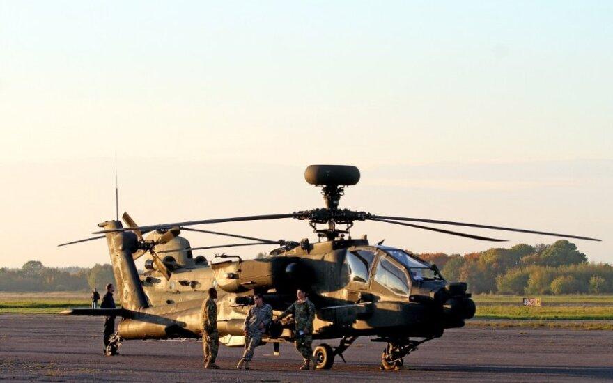Kaune leidosi įspūdingi JAV karinių pajėgų sraigtasparniai
