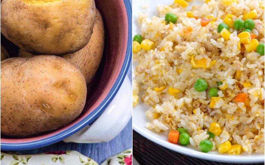 Bulvės vs ryžiai