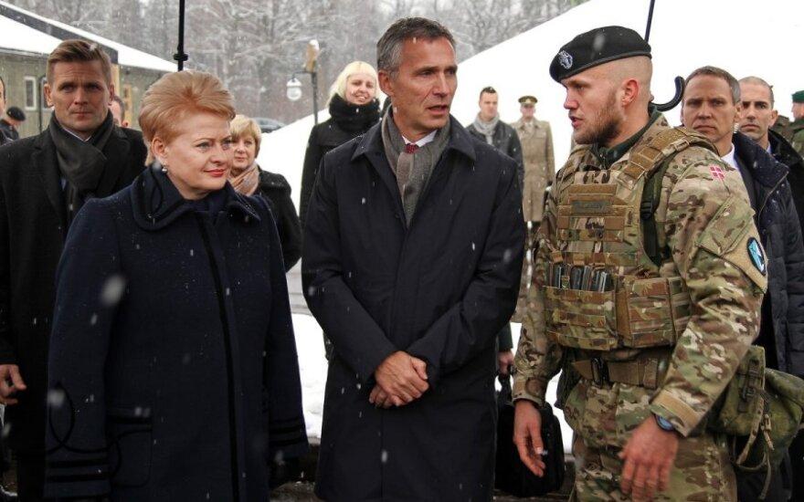 Dalia Grybauskaitė ir Jensas Stoltenbergas