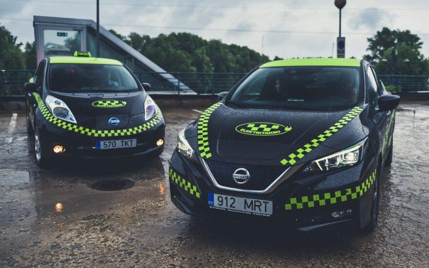 Elektromobiliais keleivius vežanti Estijos taksi bendrovė