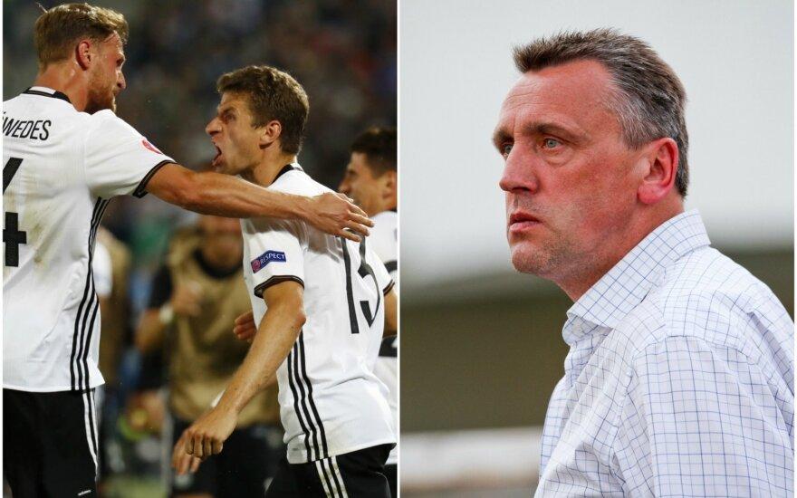 Vokietijos futbolininkus Valdas Ivanauskas laiko Europos čempionato favoritais (Reuters ir DELFI nuotr.)