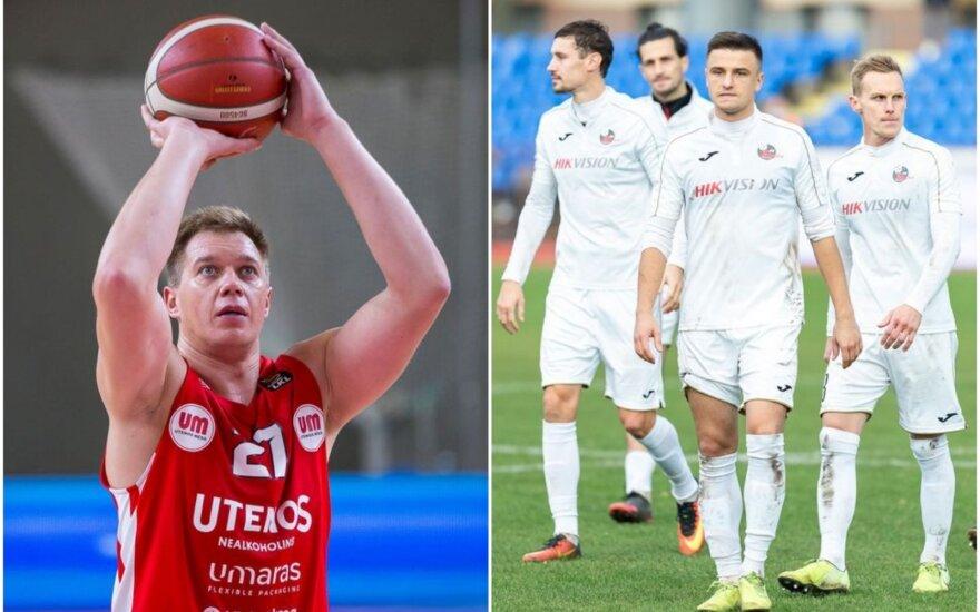"""Julius Jucikas (kairėje), """"Sūduvos"""" futbolininkai (Foto: """"Juventus"""" ir """"Sūduva"""")"""