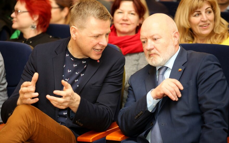 Remigijus Šimašius and Eugenijus Gentvilas