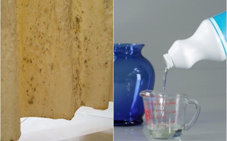 Kaip išvalyti dušo užuolaidą
