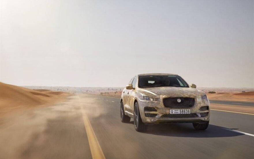 """""""Jaguar F-PACE"""" atlaikė pragariškus išbandymus"""