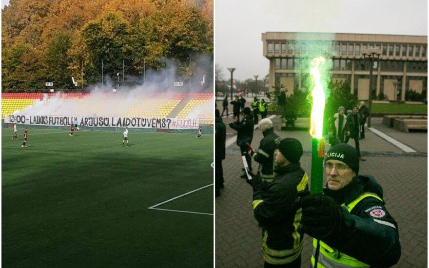 """Alytaus """"Dainavos"""" sirgalių protestas ir statutinių pareigūnų piketas"""