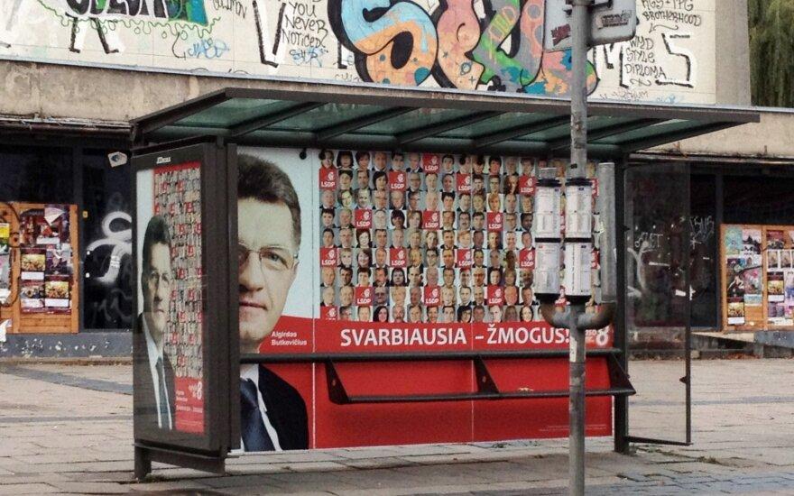 A political campaign ad