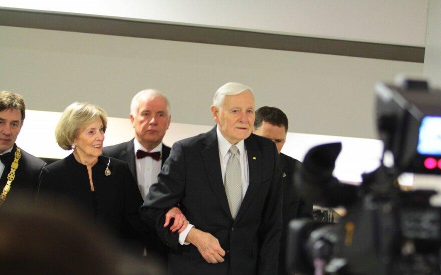 Kaune su jubiliejumi pasveikintas prezidentas V. Adamkus