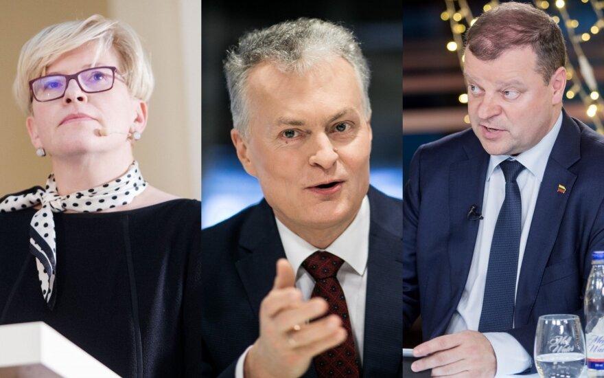 Ingrida Šimonytė, Gitanas Nausėda, Saulius Skvernelis