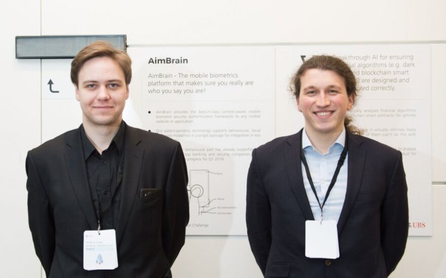 Aimbrain co-founders Andrius Šutas and Alesis Novikas
