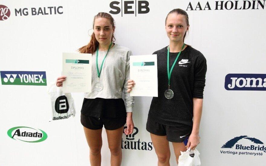 Lietuvos 18-mečių teniso čempionai – R. Vrzesinskis ir G. Zykutė