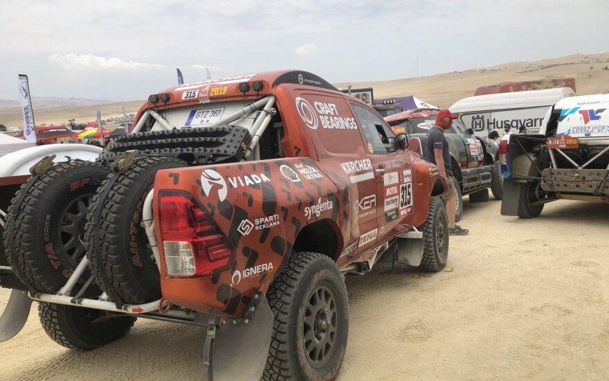 Antanas Juknevičius pirmame 2019 Dakaro greičio ruože