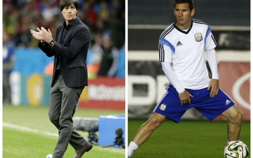 Joachimas Lowas ir Lionelis Messi