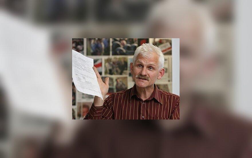 A.Beliackiui oficialiai pateikti kaltinimai dėl pajamų slėpimo