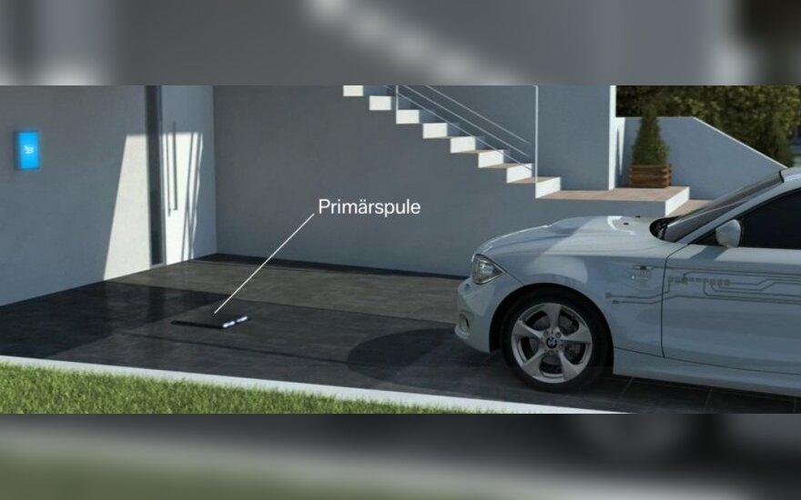 BMW belaidis elektromobilių įkrovimas