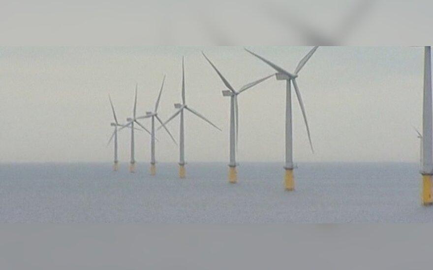 Didžiojoje Britanijoje atidarytas didžiausias jūros vėjo jėgainių parkas