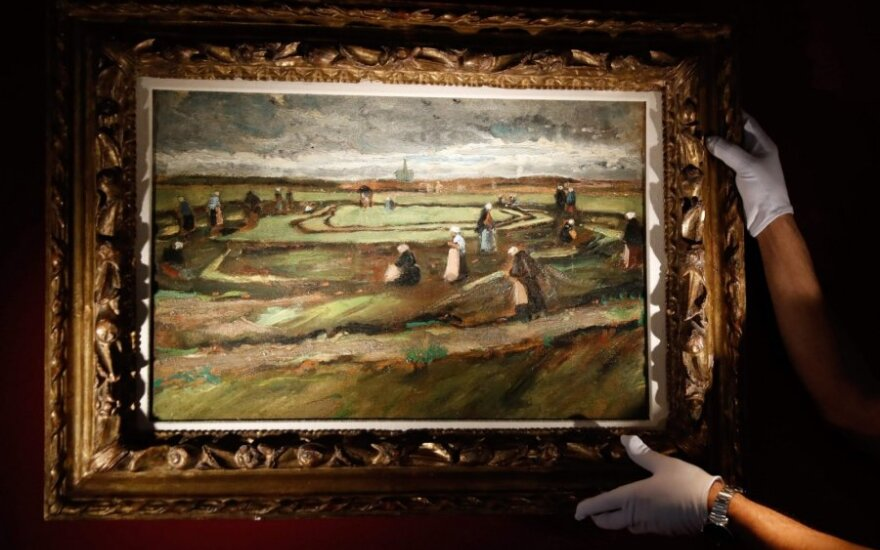 "Vincento van Gogh`o ""Moterys lopo tinklus kopose"""