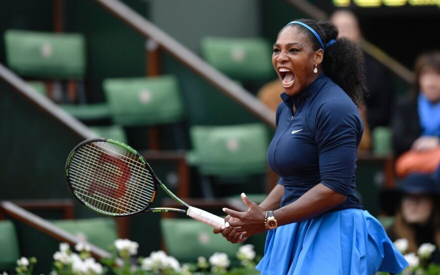 """Roland Garros"": S. Williams laimėjo, o V. Williams iškrito"