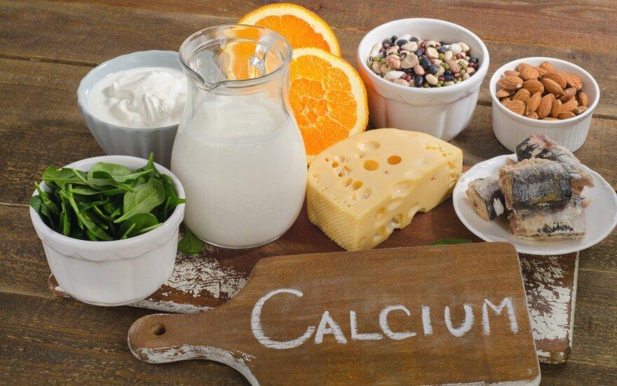 Produktai, kuriuose gausu kalcio