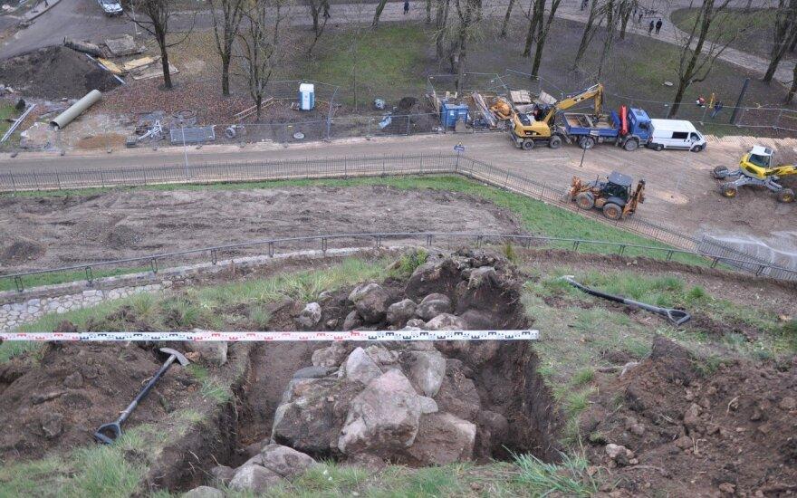 Gedimino kalne – nauji radiniai (D. Baltramiejūnaitės, R. Šiaulinsko nuotr. VŠĮ Archeologijos centras)