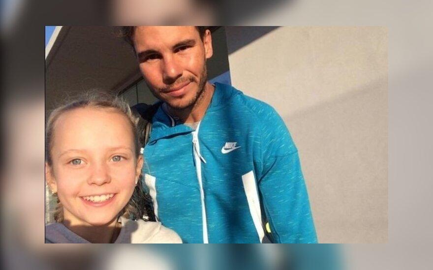 Balžeko teniso akademijos nariai lankėsi Maljorkoje ir stebėjo R. Nadalio treniruotę