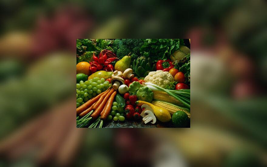 Vaisiai ir daržovės, maistas, sveika mityba