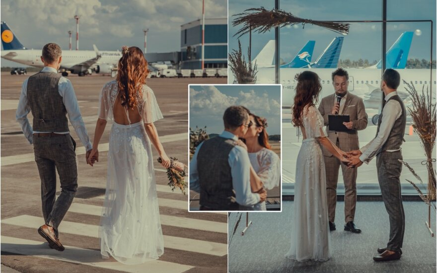 Vestuvių akimirka / Foto: Mantas Mėdžius
