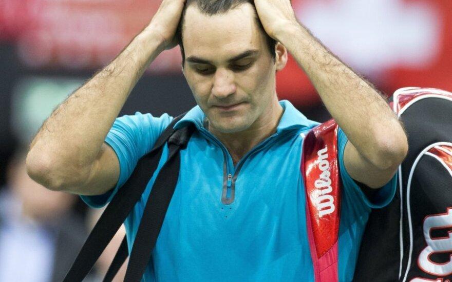 Rogeris Federeris patyrė pralaimėjima