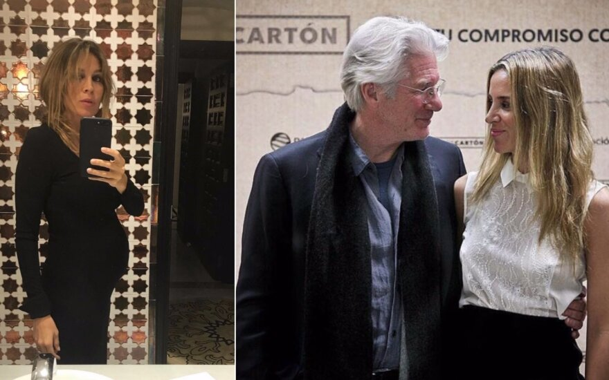 Richardas Gere'as su žmona Alejandra Silva